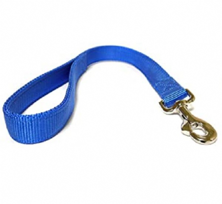 Canac Double Short Nylon Lead Blue